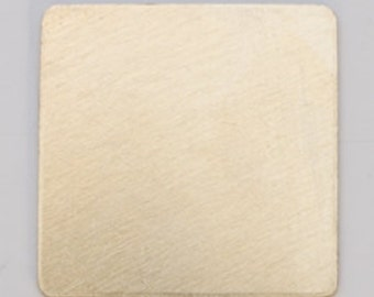 """Brass Square 3/4""""  or .75"""" 24ga PKG of 6 Great Stamping Accessory"""