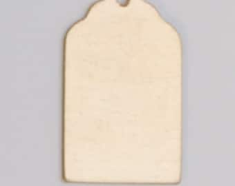 """Brass Luggage Tag with Hole 13/16"""" by 1/2""""  24ga PKG of 6 Great Stamping Accessory"""