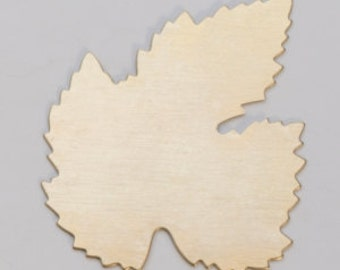Brass Leaf 40mm  24ga PKG of 6 Great Stamping Accessory