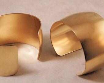 Domed Brass Bracelet Cuff Blanks For Jewelry Making 1.5 inch Pkg Of 2