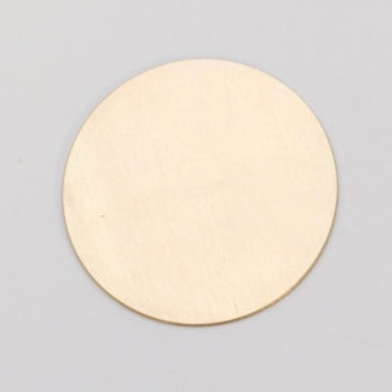 Brass Circle .5 in or 1/2 in. 24ga PKG of 6 Great Stamping Accessory