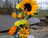 Blue-Green Forget-Me-Not Vase