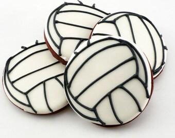 Decorated Cookies - Volleyball - 1 dozen