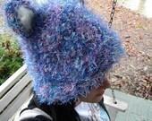 Kitty/Bear Ears Hand-Knit Hat