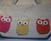 Bright Summer Owl Tote Bag