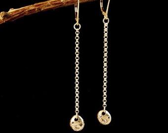 Fine Silver Moon Drop Earrings