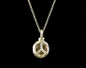 Fine Silver Peace Necklace
