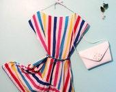 Striped Summer Fun Dress, Med/Lg