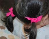 Elastic Hair Ties - Set of 6 Ouchless Munchkins Baby Petites Hair Ties - You choose Colors
