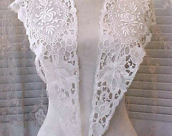 Beautiful Victorian Era Brussels Lace Panels for Dress Bodice