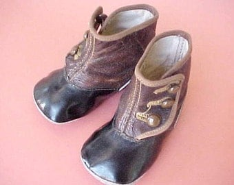 Perfect Little Pair of Late Victorian Baby High Button Shoes