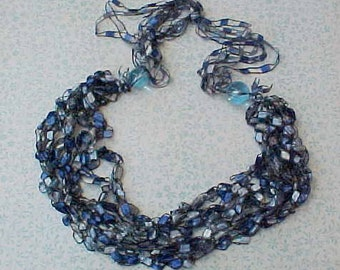 Gorgeous Silky Ribbon Trim Made Into a Necklace-Wear it or Use for Projects