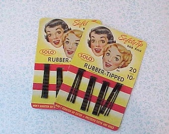 2 Darling 1951 Old Store Stock Bobby Pin or Hair Pin Packages