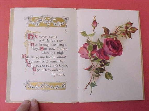 """The Most Charming and Beautiful Victorian Book:  """"I Remember I Remember"""" by Thomas Hood"""