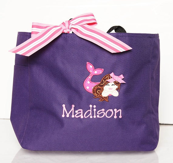 Swim Lesson Bag: Items Similar To Girls Swim Tote, Mermaid Beach Bag