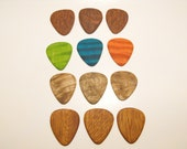 Wood Guitar Pick Gift Set. 12 piece set.