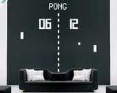 Pong arcade game vinyl wall sticker