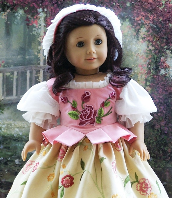 LITTLE SNOW WHITE  A Fairytale Folk Gown Cap & Pantalettes Fits 18 Inch American Girl Dolls
