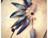 CUSTOM FOR FAITH. awake. a tribal feathered ear cuff. 'made to order'
