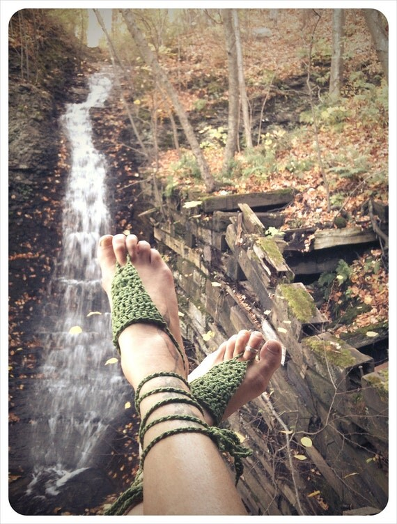 bare your sole.  barefoot sandals.  color leaf.  'in stock/ ready to ship'