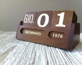 70s woodblock calendar