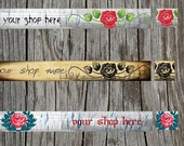 Shabby Chic Retro Vintage Etsy Shop Set - Banner and Avatar