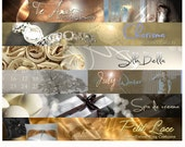 Custom Etsy Shop Banner and Avatar Package Set OOAK - (Or Facebook Timeline Banner-Blog Header-Web Banner)