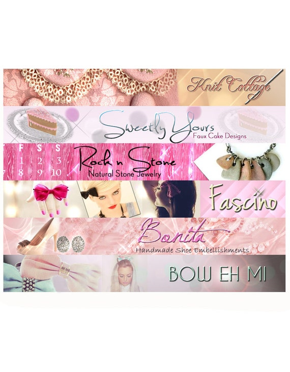 Custom Etsy Shop Banner and Avatar Package Set OOAK - (Or Facebook Timeline Banner) cover banner