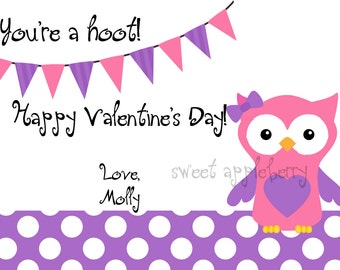 you're a hoot valentine's day card