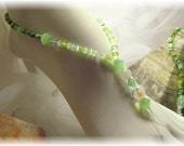 Clearance Sale, was 10.00  green barefoot sandals