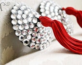 Red Nipple Tassel Rhinestone Pasties- Made to Order