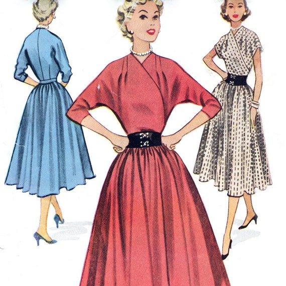 McCall's 9380 sewing pattern // Misses' Dress Crossover Bodice with Full Skirt