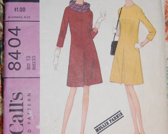 Mollie Parnis Vintage Sewing Pattern - McCalls 8404, Size 12, Bust 32