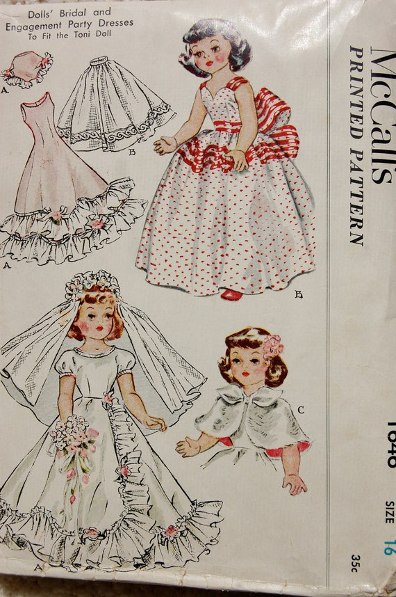 vintage doll clothes sewing pattern by bedsheetinthekitchen