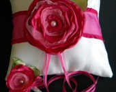 Ring Bearer Pillow  with Detachable Flower Clip and Lollipop Boutonniere
