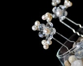 Ivory Crystal and Pearl Bridal Hairpin
