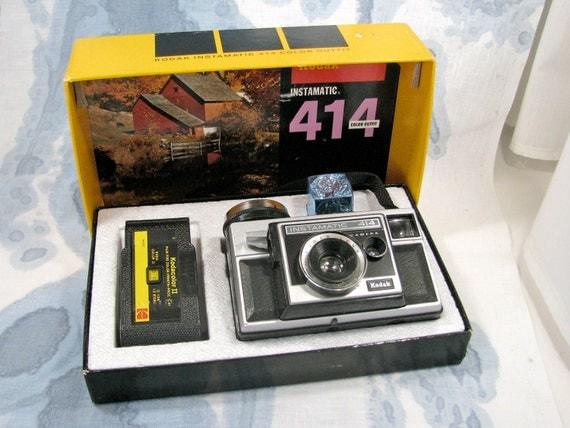 Vintage Camera,Kodak Instamatic 414 Camera  in display, c 1968, 20 Dollar Sale