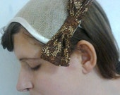 Fascinator Hat Cream Sinamay Bow