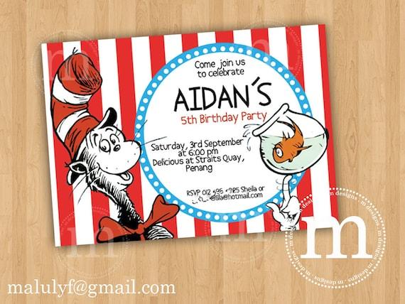 DR SEUSS - DIY Printable Party Invitation