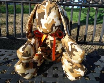 Stuffed Toy Puppy Dog Camo Brown