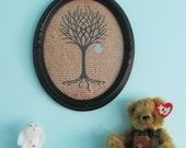 Tree of Life with Baby Boy Framed Art 8x10