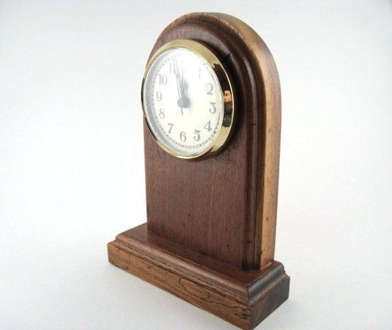 Desk Clock in Tigrillo and Dalmation Wood