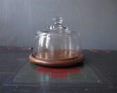 vintage glass display dome