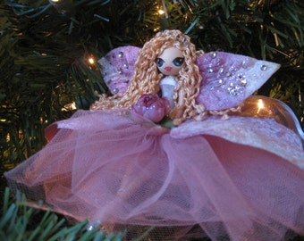 Fairy Doll Ornament Rose Pink