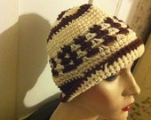 Coffee and Cream Crochet Hat