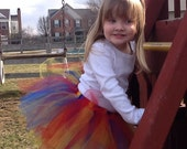 Princess Tulle Tutu Skirt for Infants, Toddlers and Girls in red, yellow and blue inspired by Snow White.