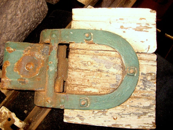 LOWERED PRICE  Pair Antique Barn Door Rollers with Tracks