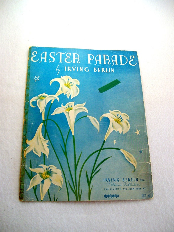 "CHRISTMAS SALE  Sheet Music ""Easter Parade"" by Irving Berlin 1933"