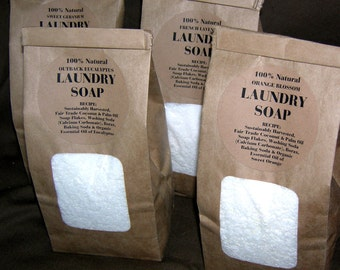 EarthFlakes - Laundry Soap Powder with Natural Laundry Boosters and Organic Essential Oils - 100% Natural Pure  (1 Pound)