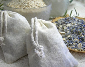 Diaper Rash Soothing Soak Sachet - Lavender Buds, Whole Oats Milk Bath Tea - 100% Organic
